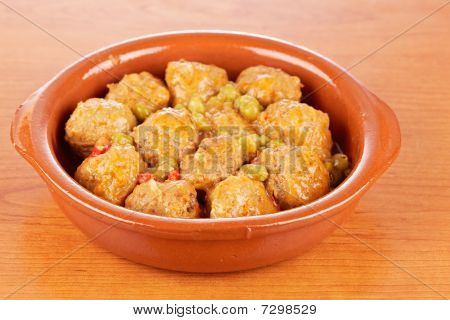 Fresh Meatballs With Peas