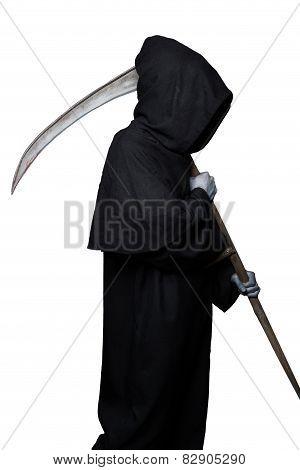 Halloween character: grim reaper