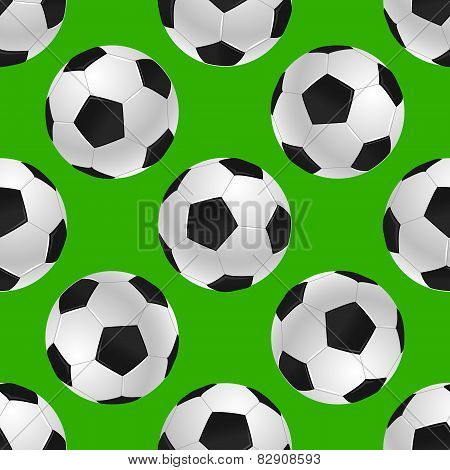 soccer's ball seamless texture over green