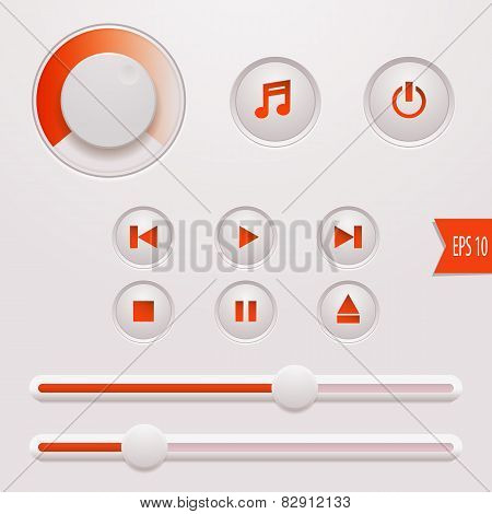 Media Player Buttons.