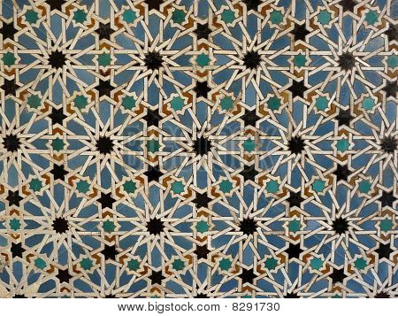 Wall tiles at the Real Alcazar in Seville, Spain