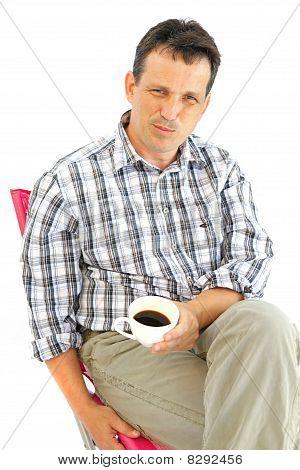 Man Enjoy Coffee