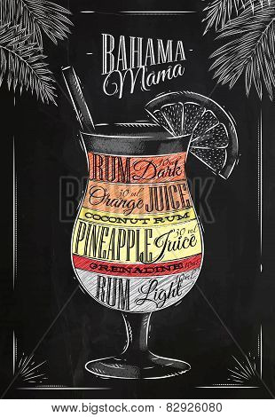 Banama mama cocktail chalk