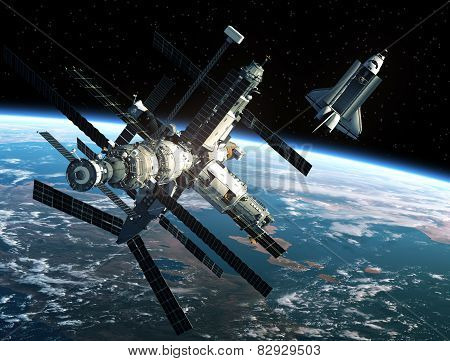 Space Station And Space Shuttle
