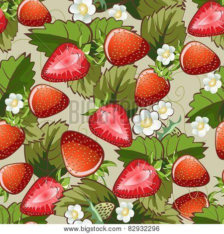 Seamless strawberry pattern