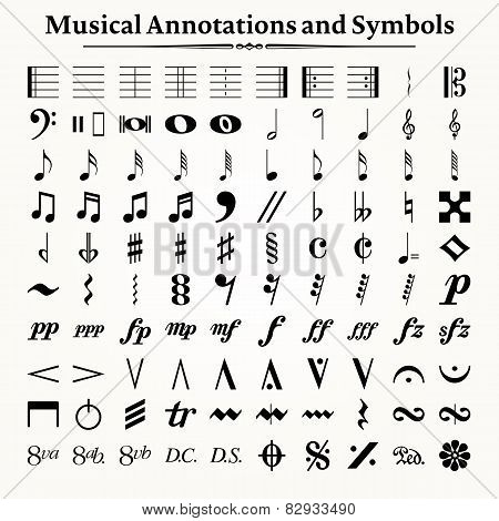 Musical Symbols And Annotations