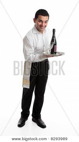 Cheerful Waiter Or Barman