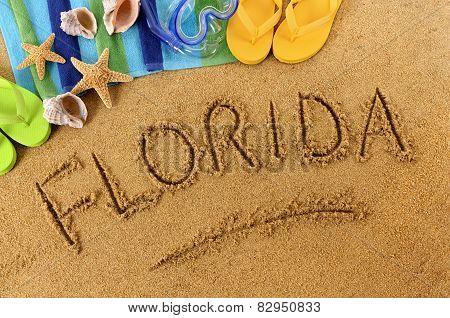 Florida Beach Writing