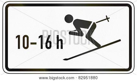 Skiers Crossing Road