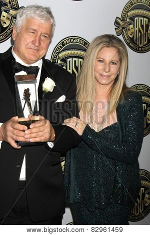 LOS ANGELES - FEB 15:  Andrzej Bartkowiak, Barbra Streisand at the 2015 American Society of Cinematographers Awards at a Century Plaza Hotel on February 15, 2015 in Century City, CA