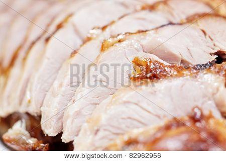 Bossam (sliced boiled pork wraps), korean traditional dish
