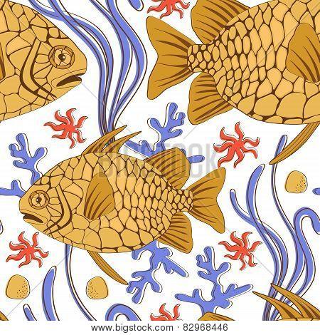 pinecone fish pattern