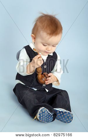 Little Boy With Pipeful,