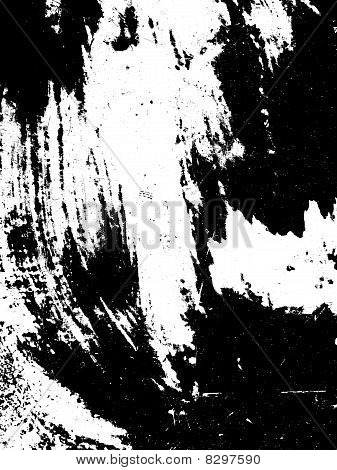 black and white  of brush strokes paint poster