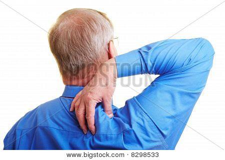 Manager Massaging His Shoulder