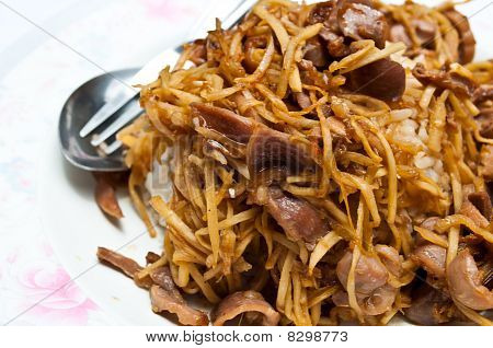 Ginger Fry With Pork