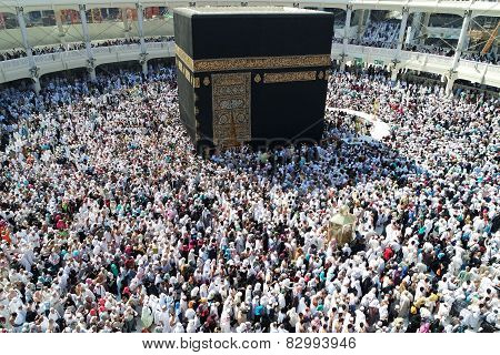 That Muslims Circumambulate Around The Kaaba