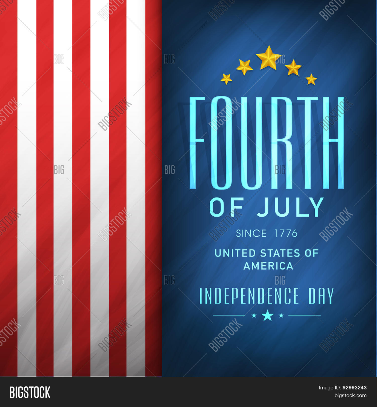 4th Of July, American Independence Day Celebration Flyer, Banner Or  Template In National Flag
