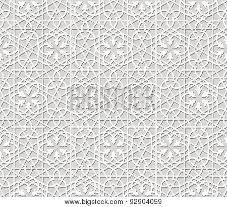 Seamless arabic pattern in paper style