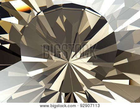 Background of jewelry gemstone. Facet poster
