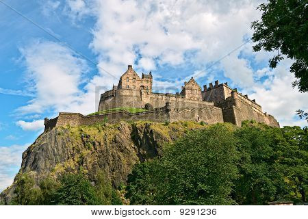 Edinburgh Castle, Scotland, From The West