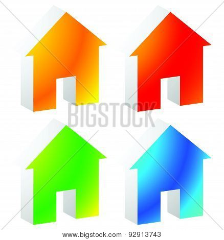 Icon(s) for house apartment rent home homepage housing concepts. poster