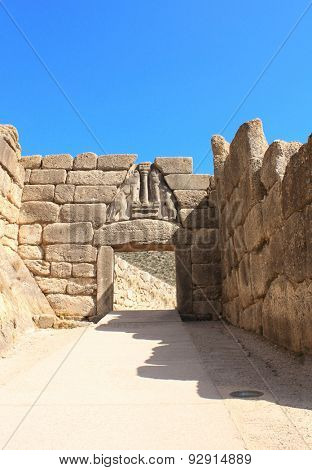 The Lion Gate, Archaeological Site of Mycenae, Greece