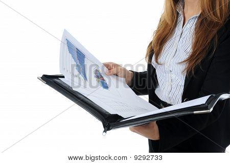 Businesswoman Holding Documents