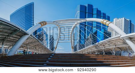 Panoramas Skywalk Business Area , Architecture  In City The Bangkok