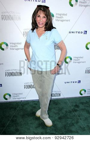 LOS ANGELES - JUN 8:  Kate Linder at the SAG Foundation's 30th Anniversary LA Golf Classi at the Lakeside Golf Club on June 8, 2015 in Toluca Lake, CA
