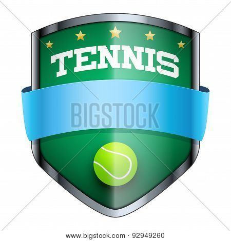 Tennis Shield badge.