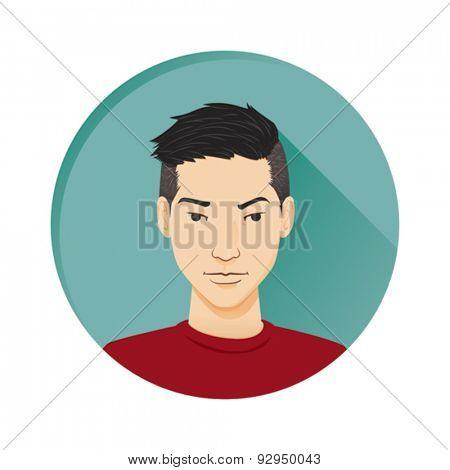 modern male avatar, profile pic