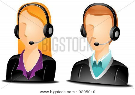 Call Center Agent Avatars with Clipping Path poster