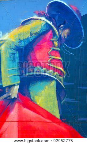 Street art Montreal matador