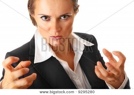 angry modern business woman