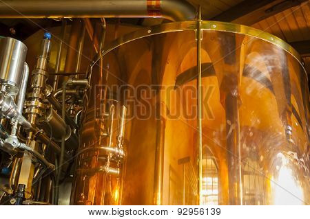 Copper container for whiskey