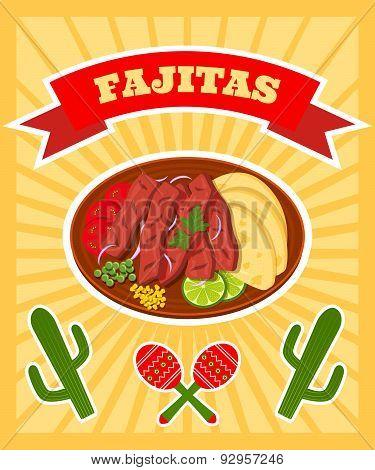 Fajitas Poster