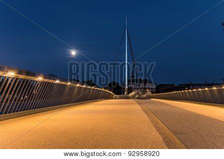 The City bridge (Byens bro) in Odense Denmark. poster