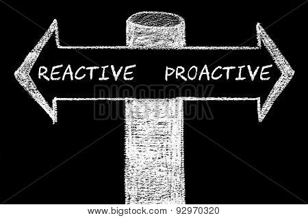 Opposite Arrows With Reactive Versus Proactive