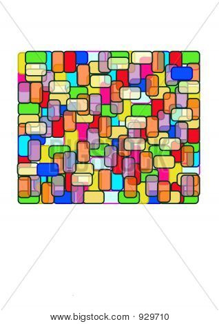 Rectangle - Stain Glass