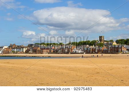 Beach in North Berwick Scotland in Summer time