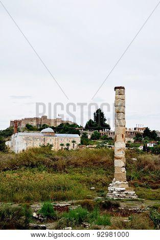The Temple of Artemis in Ephesus, Turkey