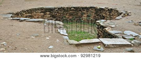 The remains of a Tank at the