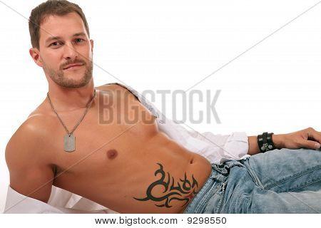 Young Seductive Caucasian Man