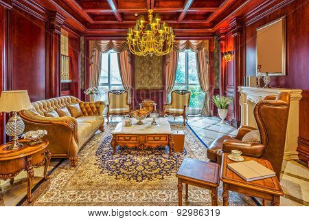 luxury living room interior and decoration