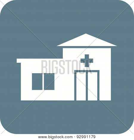 Emergency room, paramedic, medics icon vector image. Can also be used for healthcare and medical. Suitable for mobile apps, web apps and print media. poster