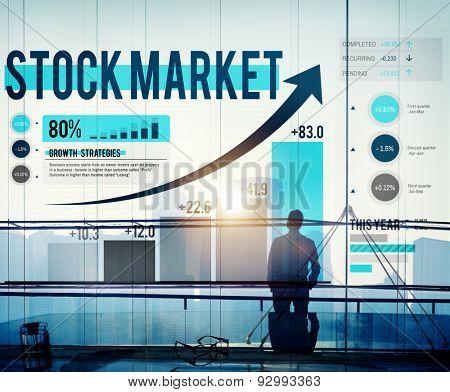 Stock Market Stock Exchange Trade Digital Concept