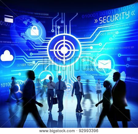 Business People Commuter Technology Security Target Market Concept