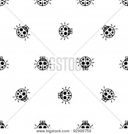 Ladybirds Seamless Vector Pattern