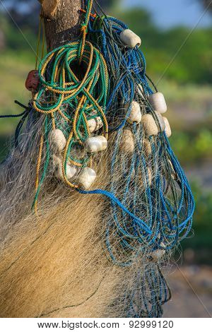 Fishing nets is hanging out to dry